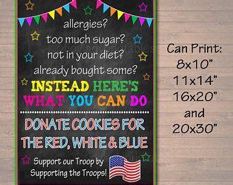 cookie booth sign    eat em treat em donate