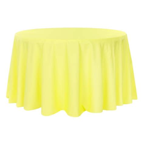 "Round Polyester 132"" Tablecloth Yellow CV Linens"