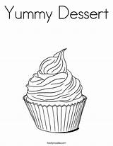 Coloring Cupcakes Pages Dessert Cupcake Cake Food Printable Yummy Twistynoodle Mini Print Desserts Colouring Sheets Noodle Birthday Easy Worksheets Cute sketch template