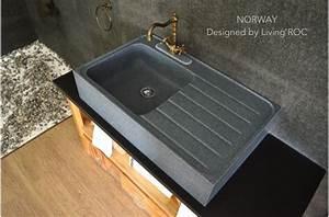 Evier Cuisine Granit : norway vier en pierre pour cuisine granit v ritable ~ Premium-room.com Idées de Décoration