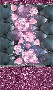 #pink #roses #glitter #madebyniki | Bling wallpaper ...