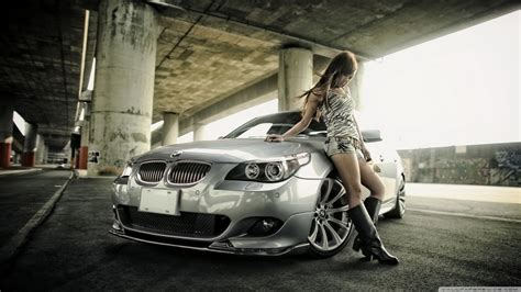 Bmw And Girl 4k Hd Desktop Wallpaper For 4k Ultra Hd Tv