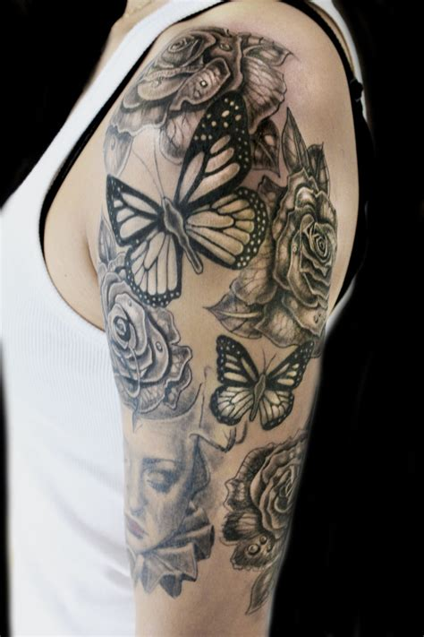 roses  butterflies tattoo abyss montreal