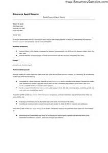 insurance sales resume sle resume wording insurance sales