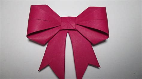 how to make a simple bow paper bow how to make paper bow easy youtube