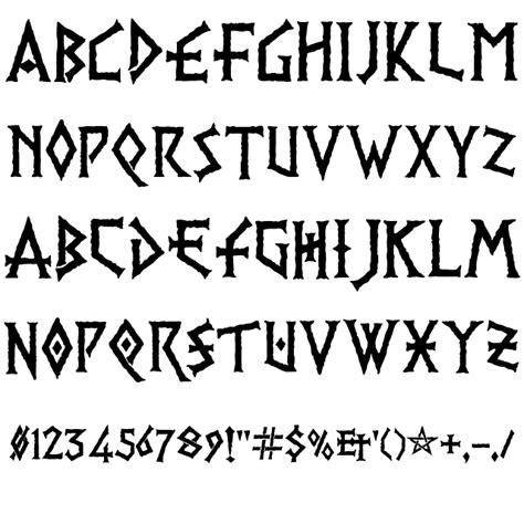pr viking font nordic  tattoo lettering fonts