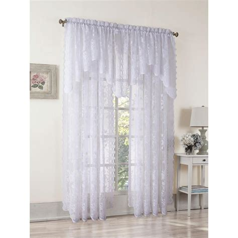 lichtenberg sheer white alison lace curtain panel