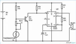 Fire Alarm Circuit Diagram Using Thermistor