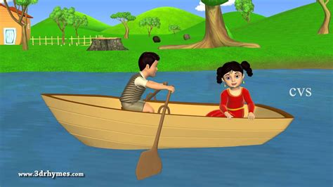 Row Your Boat In English by Row Row Row Your Boat 3d Animation English Nursery Rhyme