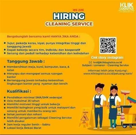 Tidak buta warna tanggung jawab. Lowongan Kerja Cleaning Service Klik Logistics - Indah Pratiwi di Bekasi Barat, Bekasi Kota, 17 ...