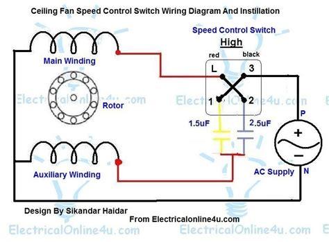 ceiling fan motor wiring fan motor variable switch