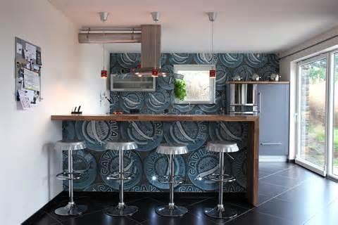 papiers peint cuisine modele papier peint cuisine amenagement cuisine salon