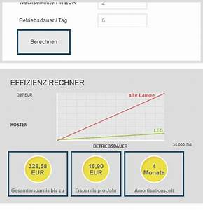 Led Schaltungen Berechnen : led ersparnis berechnen ~ Themetempest.com Abrechnung
