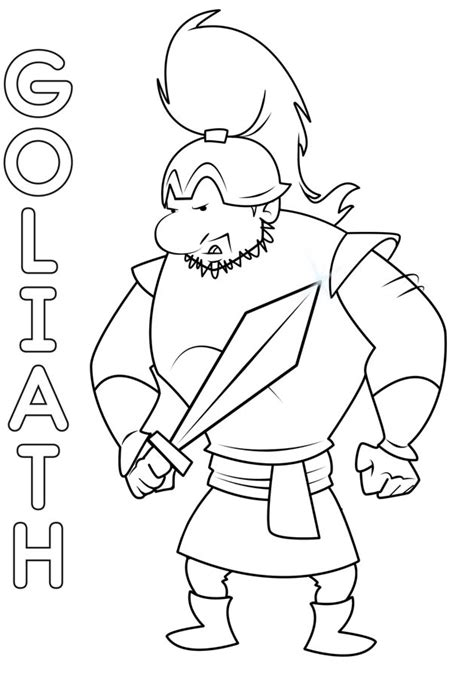 coloring pages david  goliath  stones coloring pages