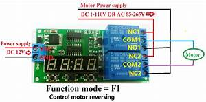 Dc 12v Digital Relay Cycle Delay Timer Timing Switch Led Motor Reversing Control