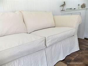 cotton sofa slipcover thesofa With furniture slipcovers custom made