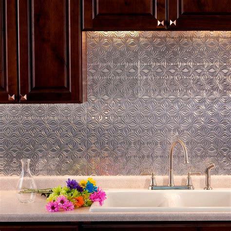 Fasade 24 In X 18 In Lotus Pvc Decorative Tile
