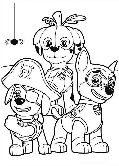 disegni  bambini da colorare gratis cuccioli paw patrol