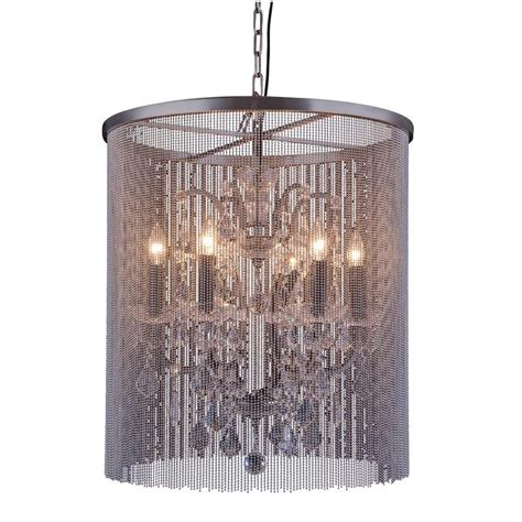 Brown Chandeliers by Lighting 6 Light Mocha Brown Chandelier