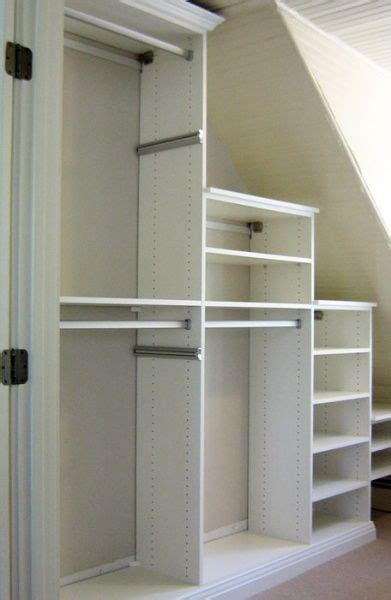 Closet Organization Ideas For Slanted Roof Attic Space by Angled Ceiling Closet California Closets Cities