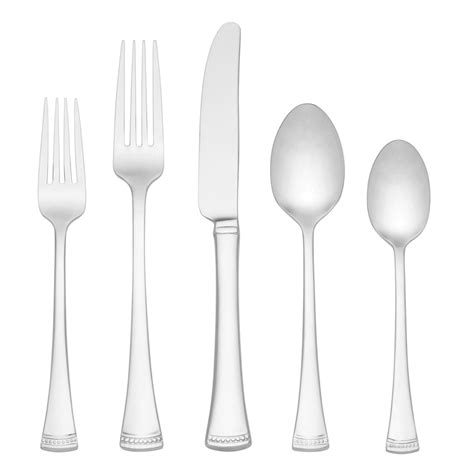 flatware silverware sets lenox stainless patterns popular most portola spoons piece settings dinner value place order topvaluereviews