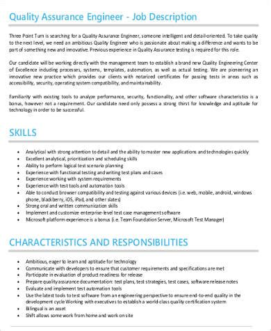 quality engineer job description templates  ms