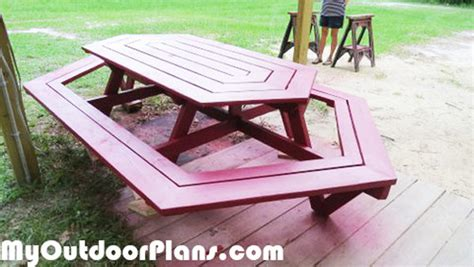 diy large picnic table myoutdoorplans  woodworking