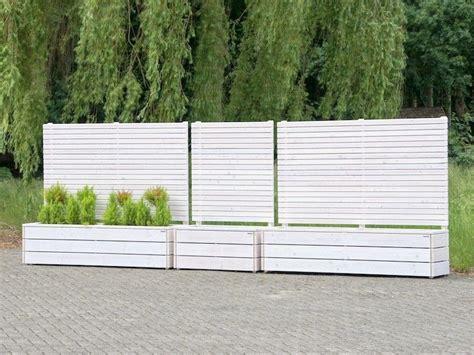 Pflanzkasten Mit Sichtschutz Kunststoff by Sichtschutz Mit Pflanzkasten Holz Reihe Sichtschutz