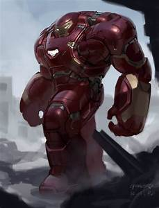 Unused Designs for Hulkbuster, Vision, and Ultron in ...