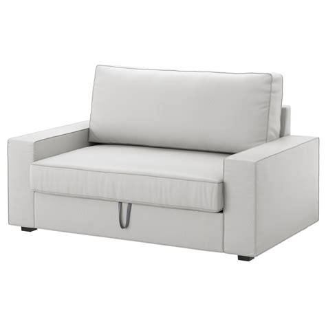 canapé bz 120 cm vilasund two seat sofa bed ramna light grey ikea