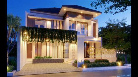 jasa arsitek desain rumah villa bali tropis ibu heny