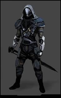 Futuristic Ninja Armor Concept Art