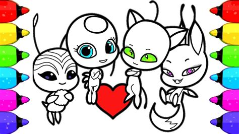 miraculous ladybug coloring book pages  kids