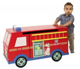 pics photos fire truck toy box