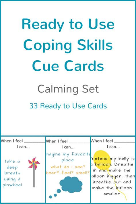 ready to use coping skills cue cards calming set 473 | Calming Cue Cards Cover Image CSK 1024x1024