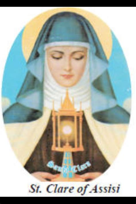 st clare of assisi at adoration saints