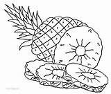 Pineapple Coloring Pages Printable Colouring Fruit Cool2bkids Fruits Pineapples Tart Apple Pine Drawing Cute Juicy Children Vegetables Rose sketch template