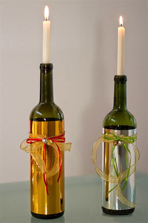 wine bottle candle holder transforming wine bottles into candles candle inventor