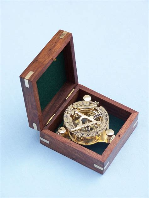 buy solid brass captains triangle sundial compass