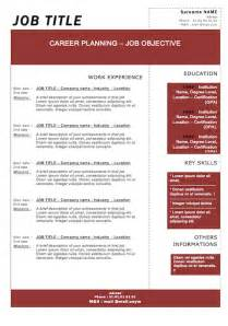 Free Word Resume Templates Modern by Modern Resume Template Free Resume Badak