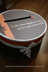 decoration urne mariage carton idees et d39inspiration With deco entree de maison 15 urne mariage nature 5 deco