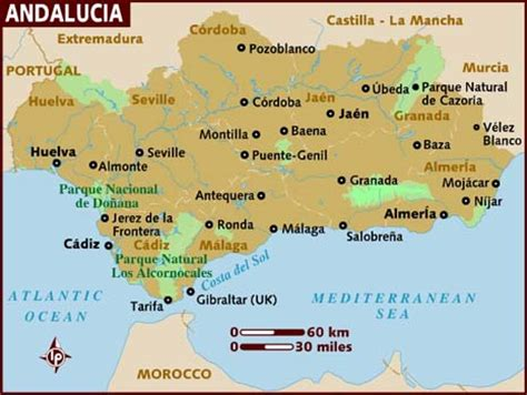 map  andalucia