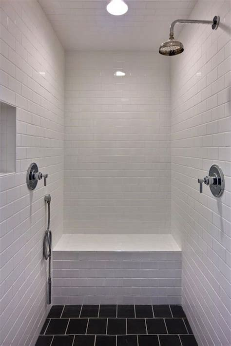 Modern Bathroom White Subway Tile by Castro Design Studio Great Shower With White Subway