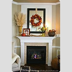 Decorating The Mantel For Fall From Thrifty Decor Chick