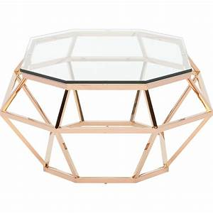 diamond rectangular coffee table by nuevo hgsx183 home With rose gold round coffee table