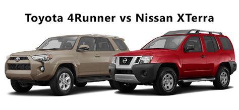 nissan xterra 2016 2016 toyota 4runner vs nissan xterra limbaugh toyota