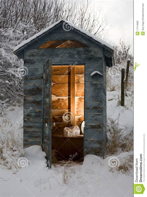 outhouse bathroom ideas winter bathroom stock photo image of paper smelly