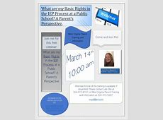 Webinar What are my basic rights in the IEP process