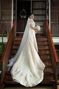 pina bridal gown filipiniana wedding inspirations With pina wedding dress