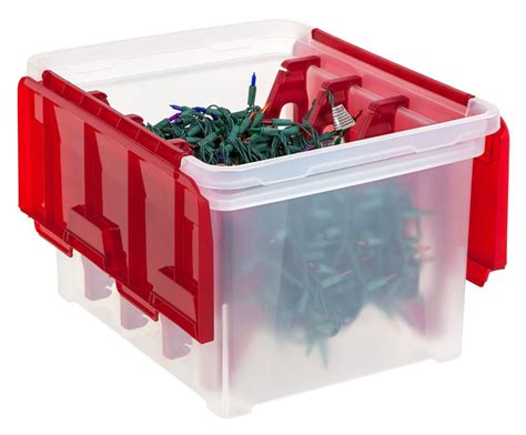 christmas light storage box in holiday decorations